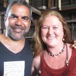 With Wayne Blair on set